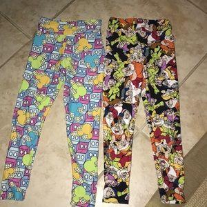 Lularoe legging bundle Disney size s/m